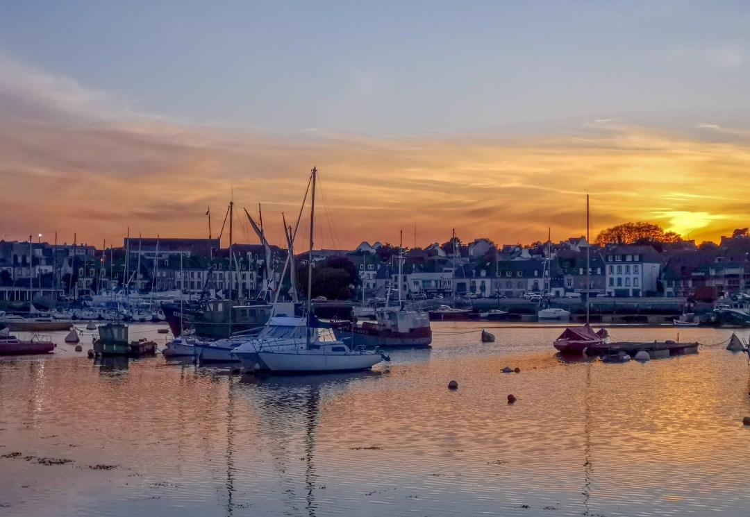 port concarneau et coucher de soleil