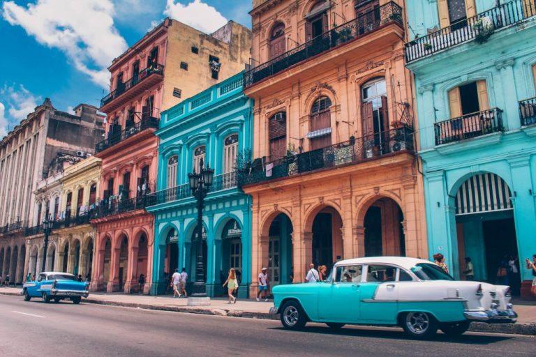 maions avec façade colorée cuba pour passer l'hiver au soleil