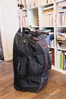 Mon sac à roulettes.