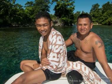 Sur le bateau du Weda Resort. Halmahera, Indonésie. Mars 2013.