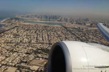 Décollage au-dessus de Dubaï. Janvier 2015.