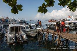 Embarcadère de Sorong. Papouasie occidentale, Indonésie, janvier 2015.