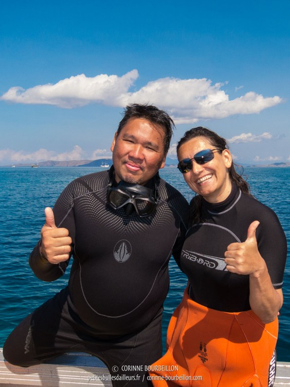 Will et moi, le binôme des photographes. (Komodo, Indonésie, juillet 2016)