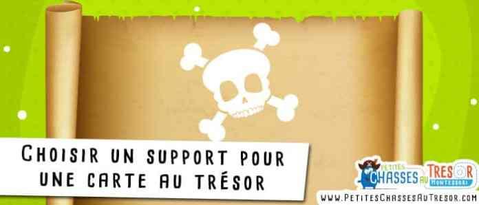 Support pour fabriquer une carte au trésor