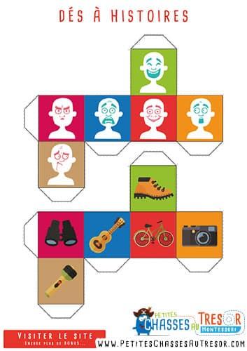 Jeu de story cube à imprimer gratuitement pour les enfants