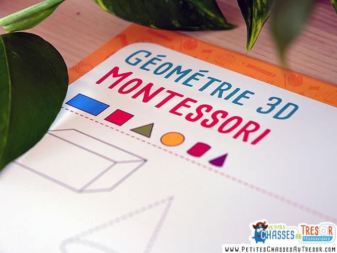 Activité Montessori maternelle à imprimer