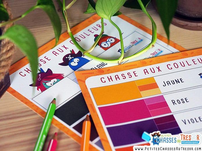 jeu chasse aux couleurs à imprimer pour les maternelles