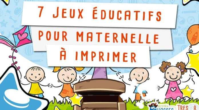 Jeux éducatif maternelle à imprimer
