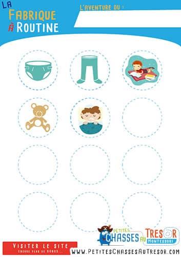 Exemple de routine pour enfant