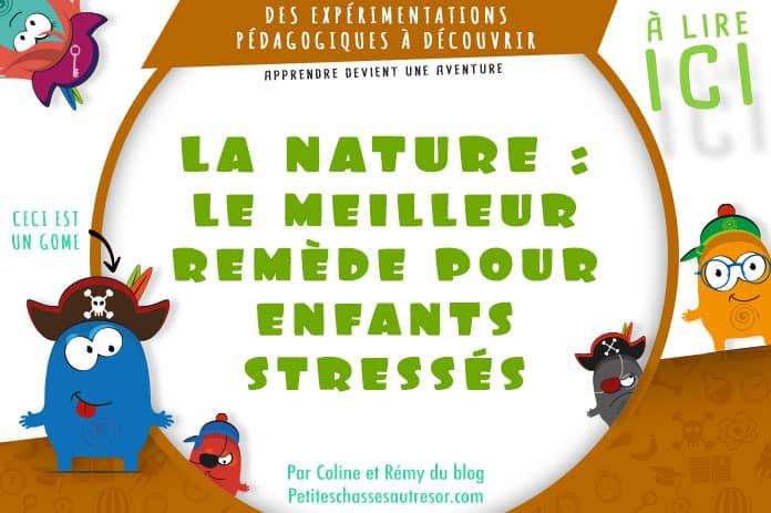 Remède nature contre le stress des enfants