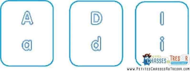 Créer le loto des lettres/alphabets