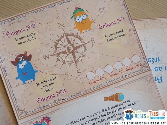 Carte au trésor chasse au trésor de pirate pour enfants