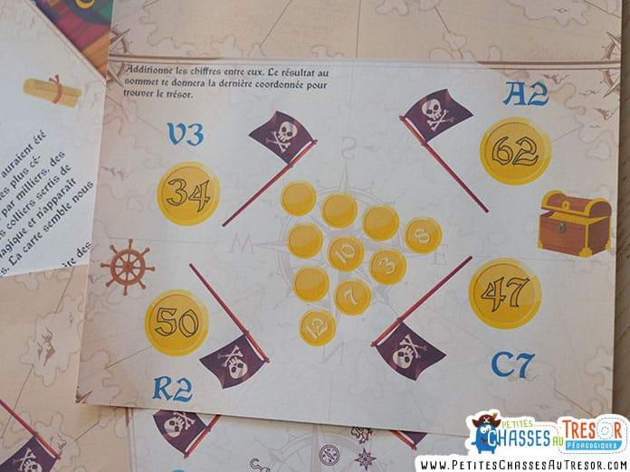 énigme de calcul chasse au trésor de pirate