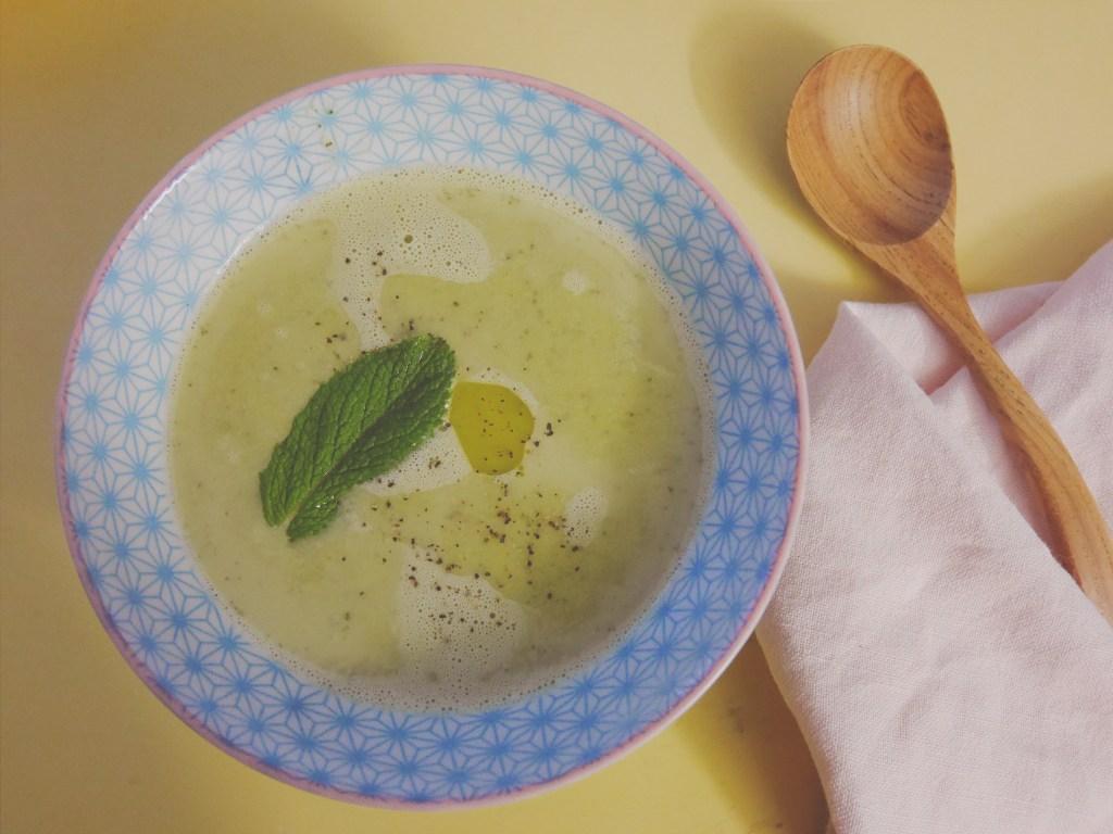 soupe petit pois menthe recette