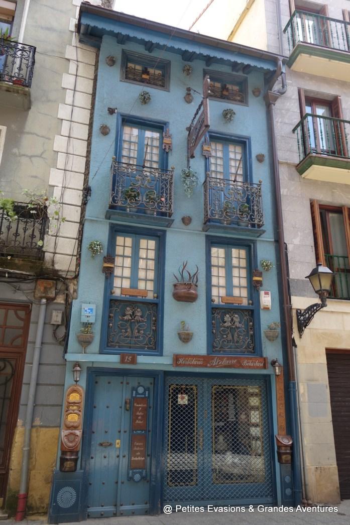 Maison bleue à Errenteria
