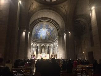 The interior of the Sacré-Coeur.