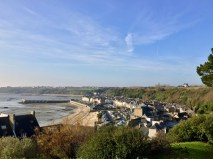 The park's view looking down into Cancale's waterfront