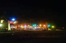 Colorful lights of Rory Bar