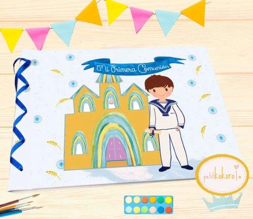 Libro de Firmas Comunión niño modelo Espigas Petitkokoro