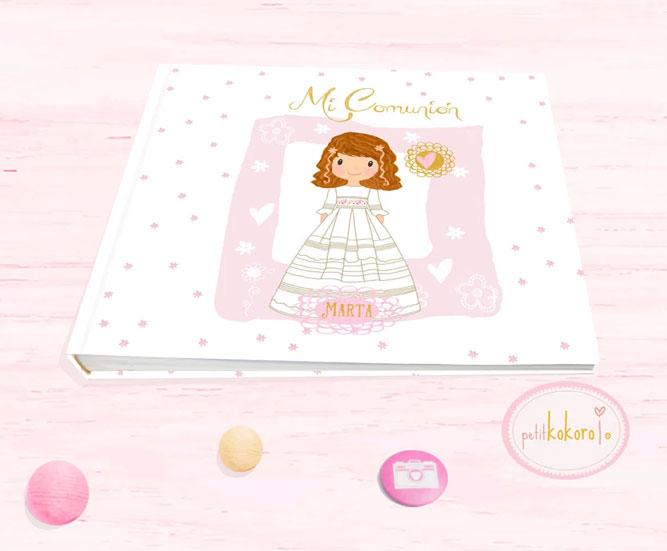 Libro de firmas comunión niña modelo Marta