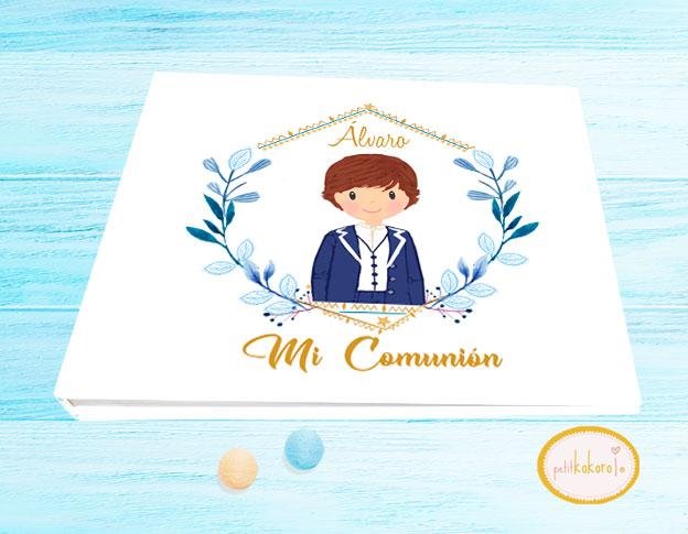 Libro de firmas comunión niño modelo orla ilustración
