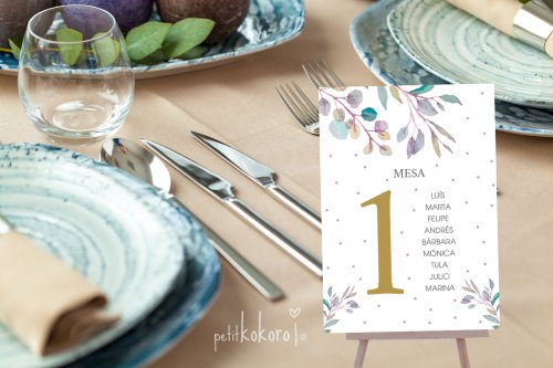 Seating Plan Boda modelo Heart Band Petitkokoro