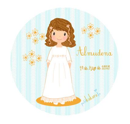 chapas-comunión-niña-modelo-Almudena