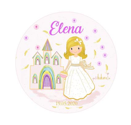 chapas comunión niña modelo Elena iglesia Petitkokoro