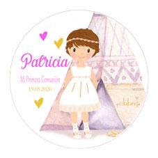 Chapas comunión niña modelo Patricia india