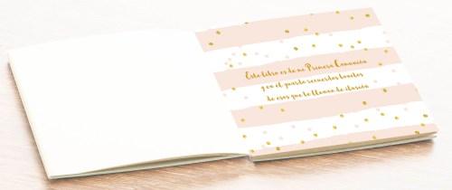 hoja álbum comunión fotos libro firmas personalizado niña petitkokoro 0