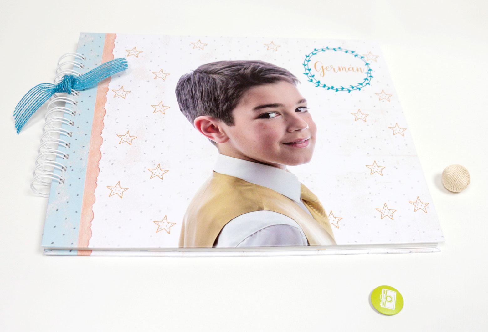 Álbum de comunión niño modelo foto estrellas