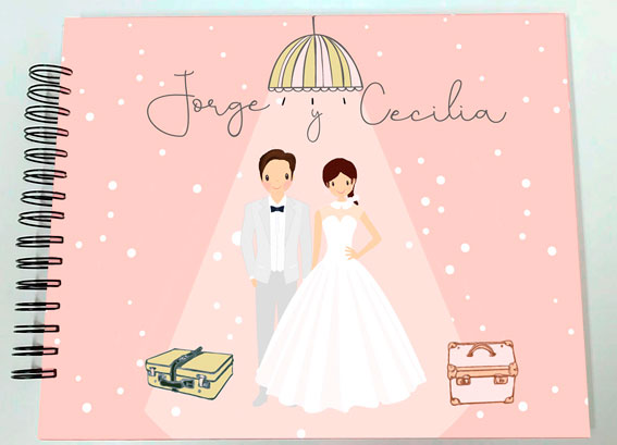 Libro de firmas álbum de fotos boda Petitkokoro modelo Cecilia