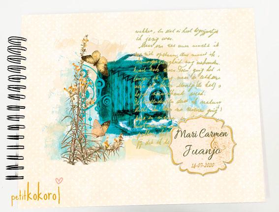 Libro de firmas álbum personalizado de fotos boda Petitkokoro modelo Mari Carmen