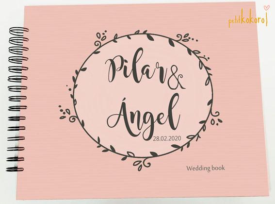 Libro de firmas álbum personalizado de fotos boda Petitkokoro modelo Pilar