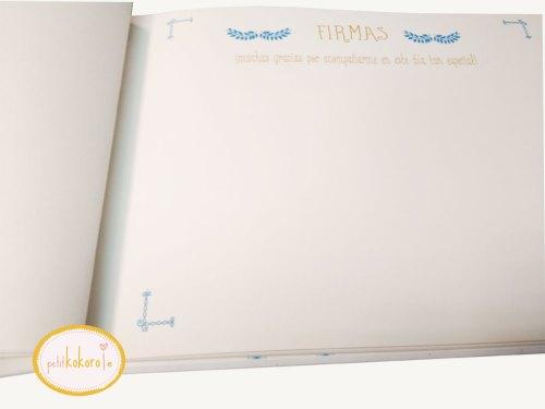 libro firmas comunión niño hoja firmas Petitkokoro