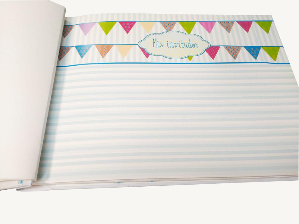 libro firmas comunión niño hoja invitados Petitkokoro