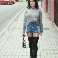 Look: Invierno + medias rejillas