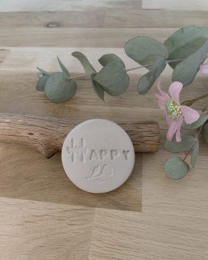 Magnet en argile   «Happy»