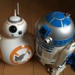 R2D2・BB8のポップコーンバケツを使ったディズニシーの店員さんとの「スターウォーズごっこ」