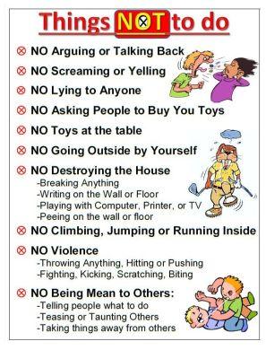 regles en famille