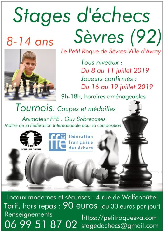 Affiche stages sevres 2019