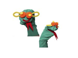 marionnette chaussette pour occuper les enfants dans l'avion