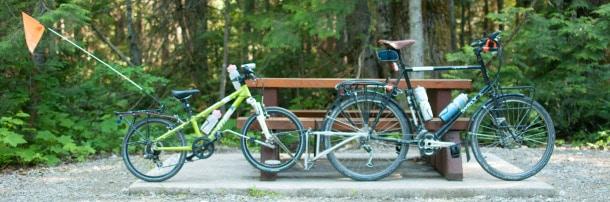 tour du monde en famille à vélo : système Follow Me