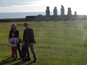 île de pâques avec enfants