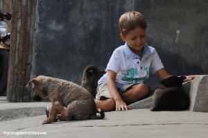 Toba avec enfants