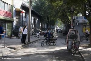 Hutongs Pékin avec bébé