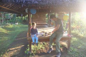 Rinjani avec enfant