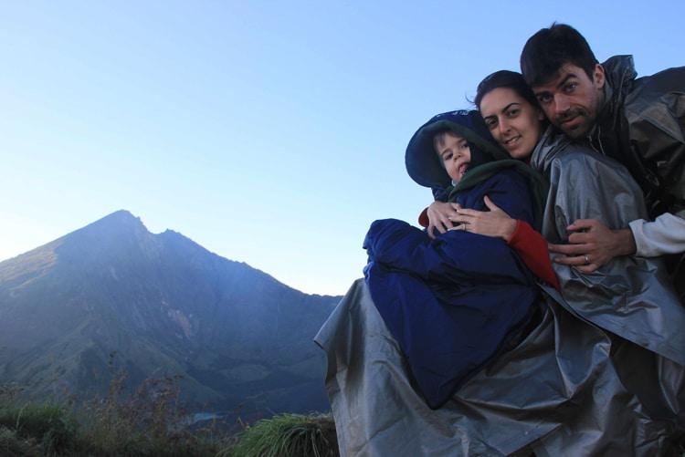 Lever de soleil en famille au Rinjani