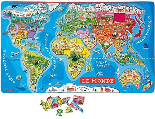 janod puzzle monde magnétique