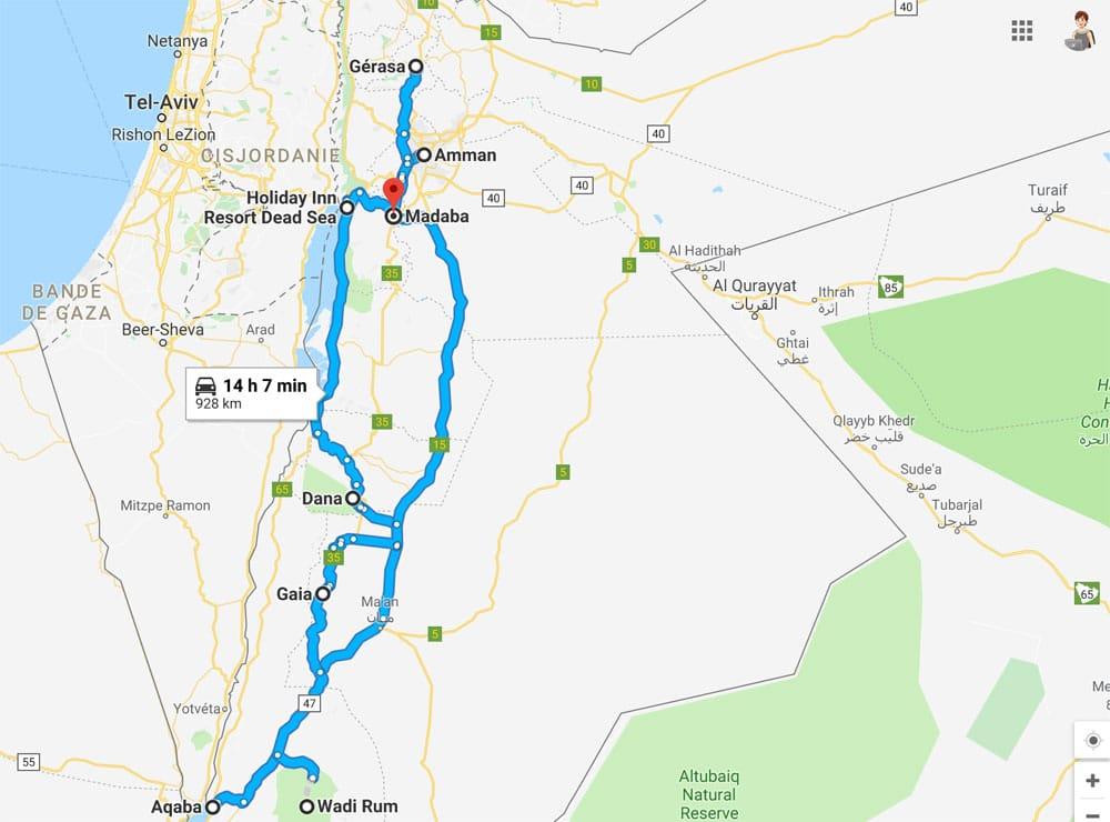 itinéraire jordanie en famille